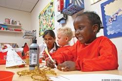 children making christmas decorations