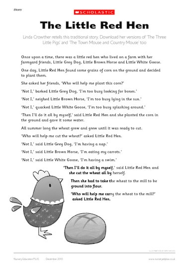 Little Red hen story – Early Years teaching resource ...