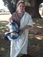 Girl dressed as a Roman