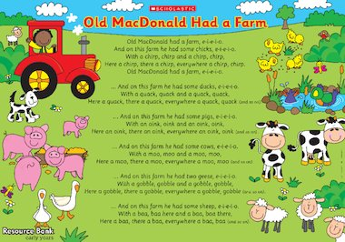 Oh my donald had a farm lyrics