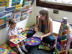 Guest Editor Harriet with child