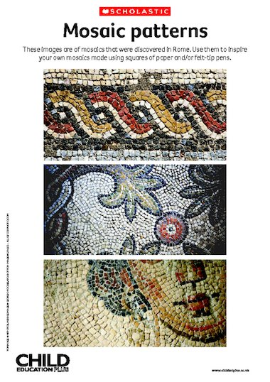 Romans mosaic patterns primary ks1 ks2 teaching for Roman mosaic templates for kids