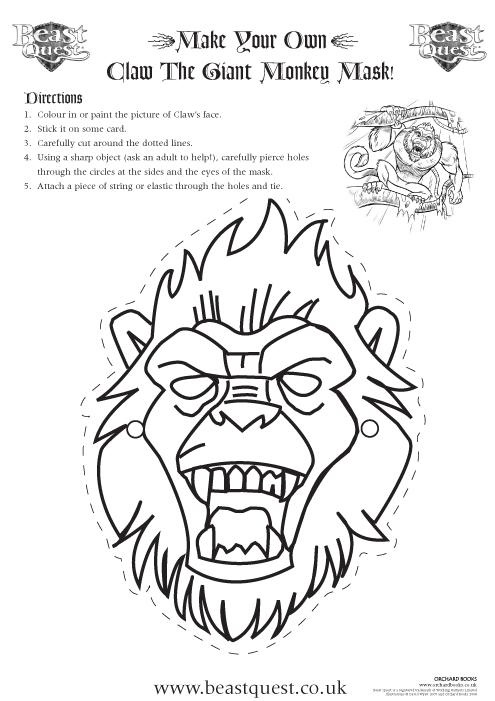 beast quest mask - scholastic kids' club