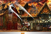 Great Fire of London scene