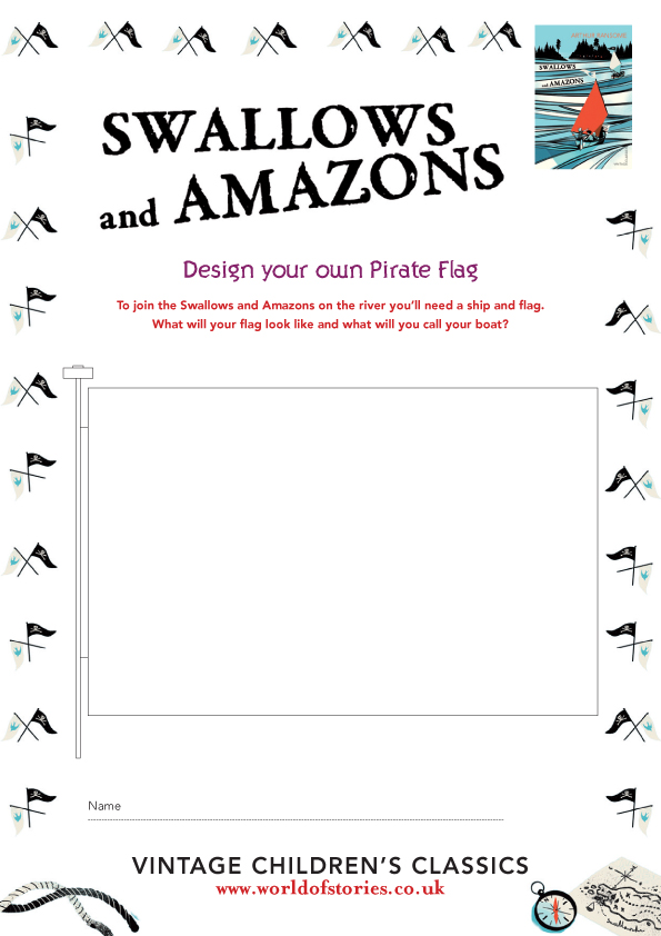 Swallows And Amazons Design A Pirate Flag Scholastic Kids Club