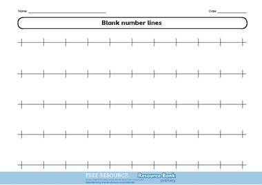 Blank number line 1 – FREE Primary KS1 teaching resource ...