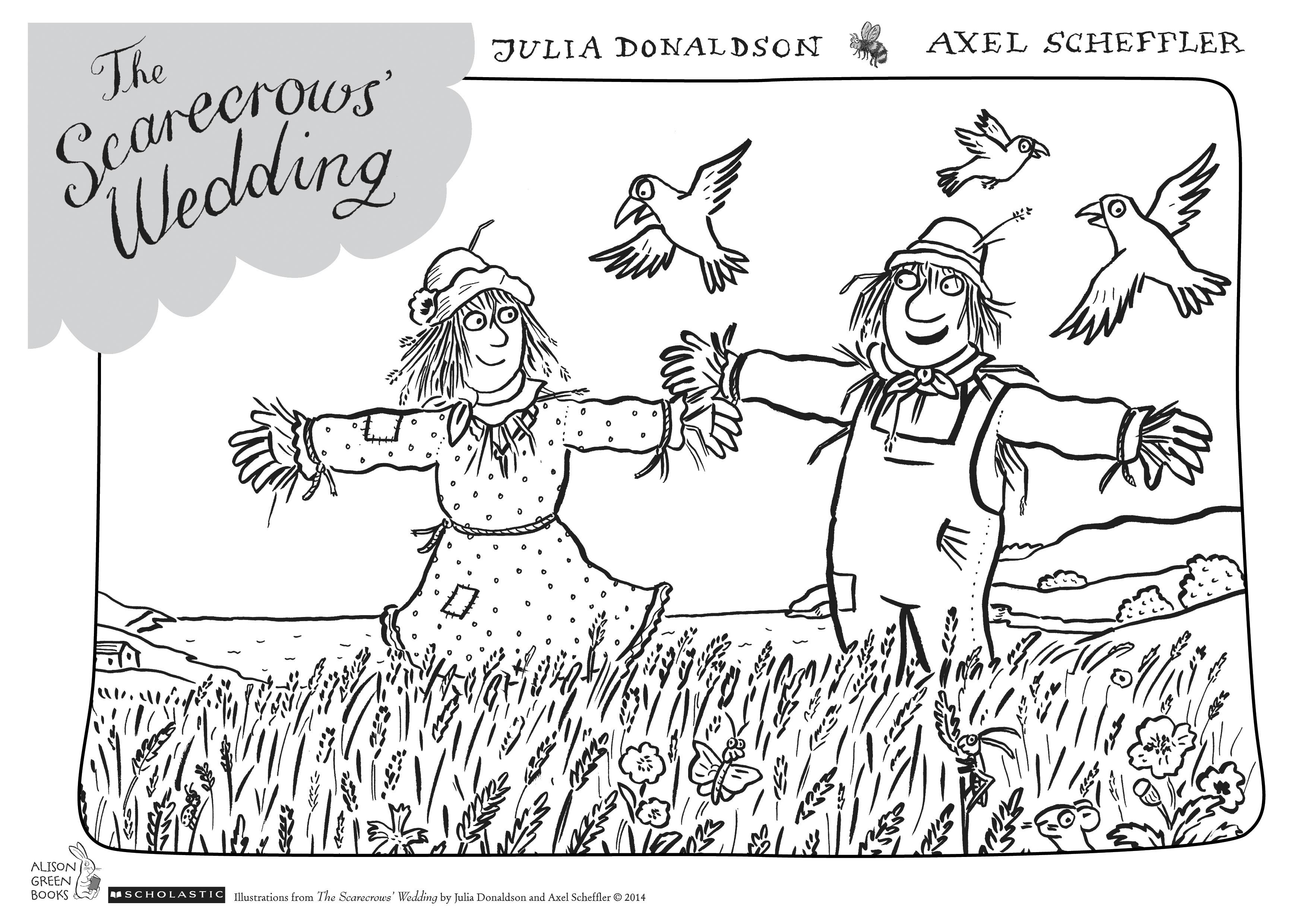The Scarecrowsu2019 Wedding colouring sheet - Scholastic Kidsu0026#39; Club