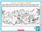 Message in a bottle colouring activity thumbnail