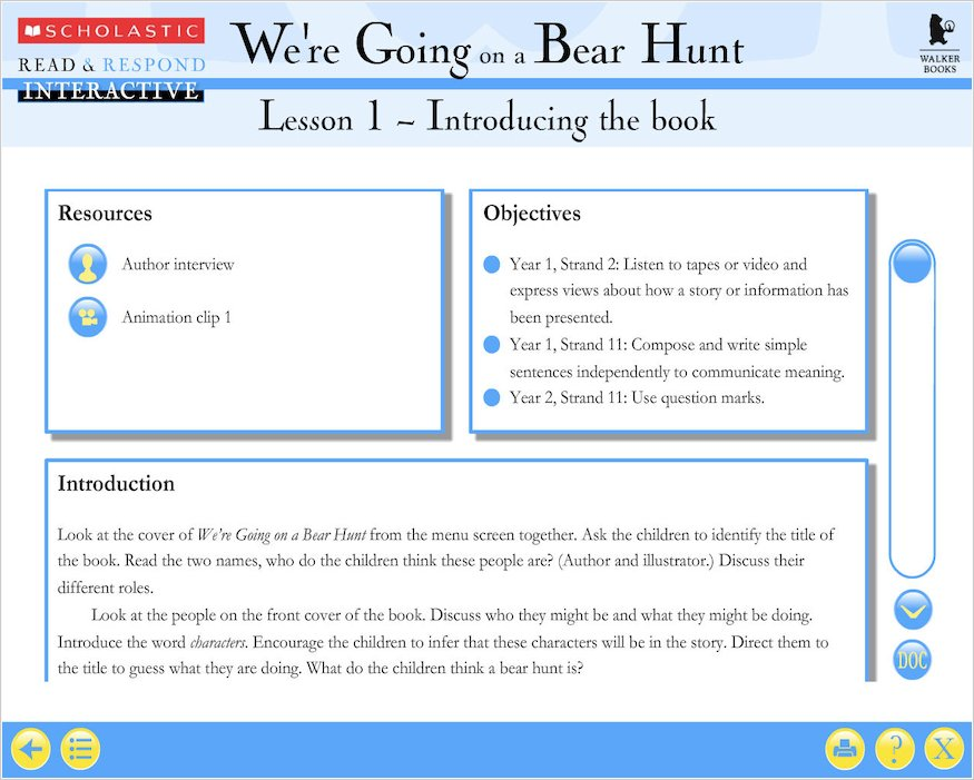 Read And Respond Interactive Were Going On A Bear Hunt 9780439945806 on Educational Stuff For 2 Year Olds
