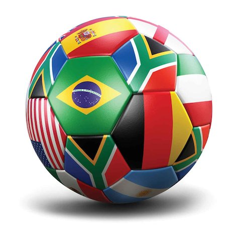 World Cup flags football