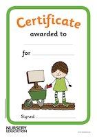 Gardening certificates
