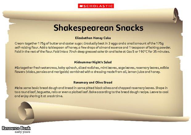 Shakespearean snacks