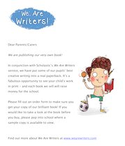 We Are Writers parent letter