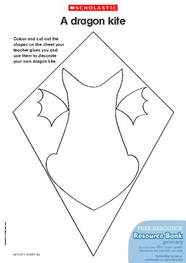 Make A Dragon Kite Part 1 Free Primary Ks1 Amp Ks2