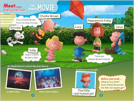 Peanuts: The Movie - Meet sample page