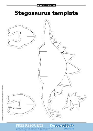 Dinosaur templates u2013 FREE Primary KS1 teaching resource - Scholastic