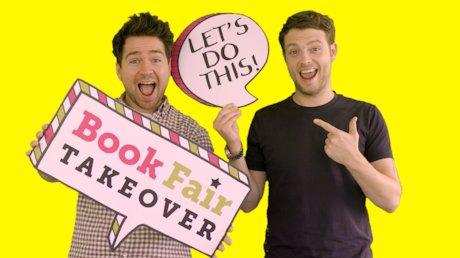 Book Fair Takeover Sam and Mark