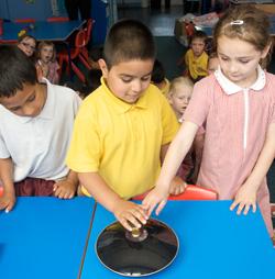 Children using mirage