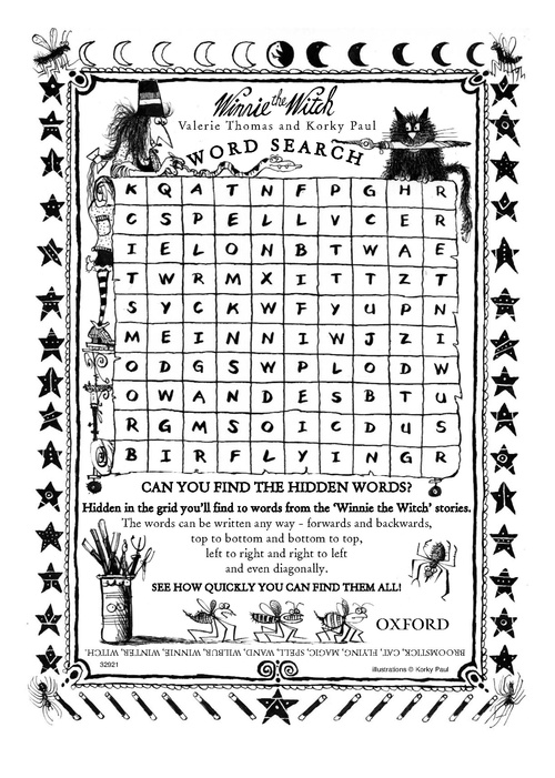Winnie the Witch Wordsearch - Scholastic Kids' Club