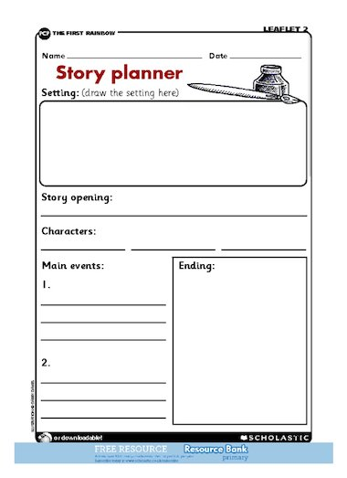 story planner free primary ks1 teaching resource
