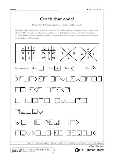 Code breaking crack that code primary ks2 teaching resource