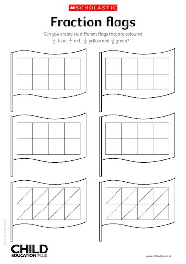 Fraction flags activity – Primary KS2 teaching resource