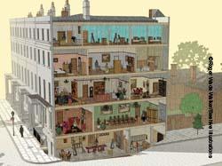Victorian townhouse illustration