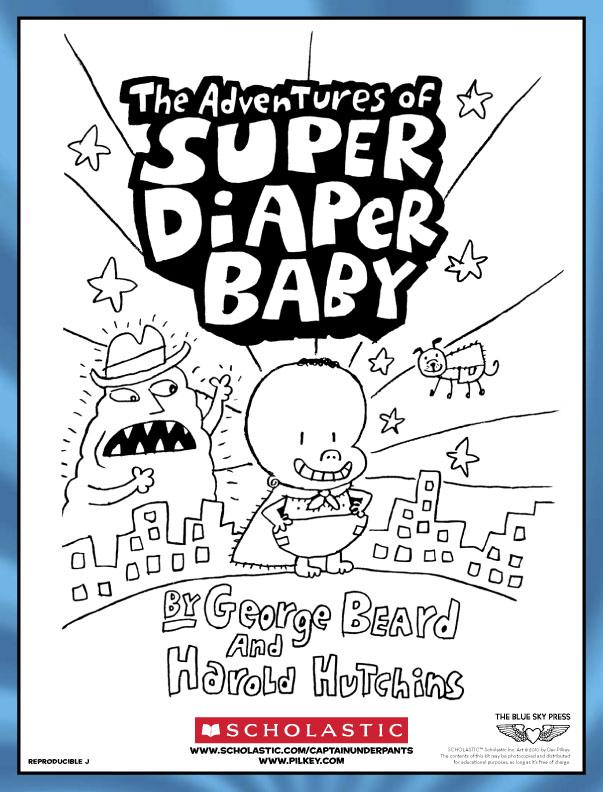 super diaper baby colouring scholastic kids 39 club