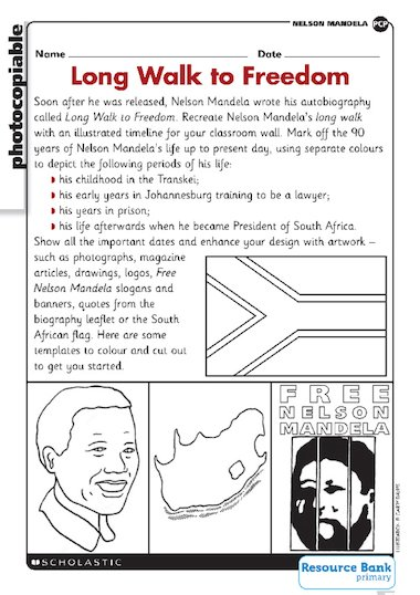 Nelson Mandela – biography – Primary KS2 teaching resource