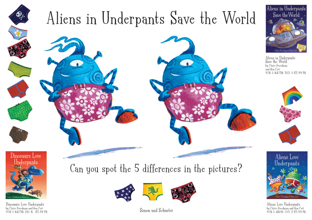 ... Underpants Save the Word Spot the Difference - Scholastic Kids' Club