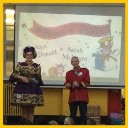 Sarah McIntyre and Alan MacDonald sing the pants song