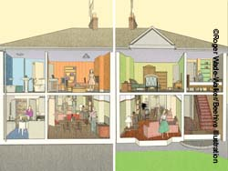 Illustration Of 1950s Semi Detached House Part 94
