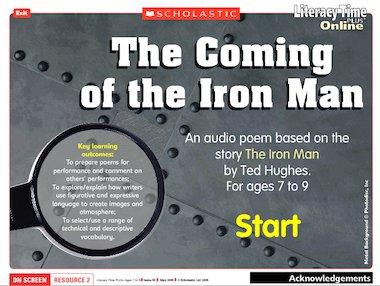 Ted Hughes iron man poem