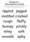 Textures – descriptive words