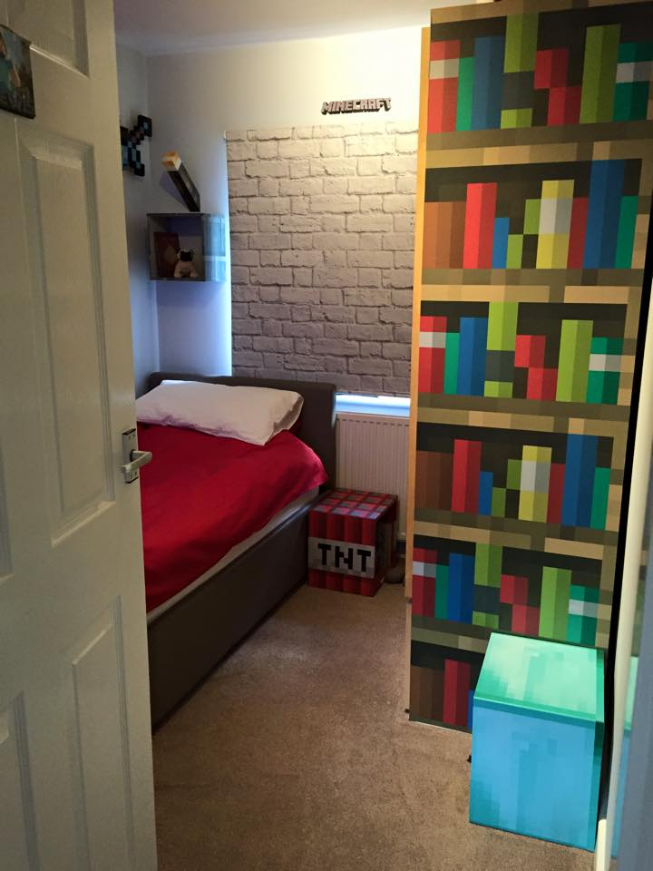 minecraft themed bedroom bringing books to take a look inside the ultimate 12402