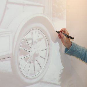 Victorian car drawing