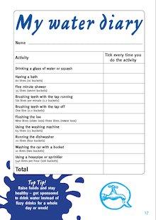 WaterAid water diary