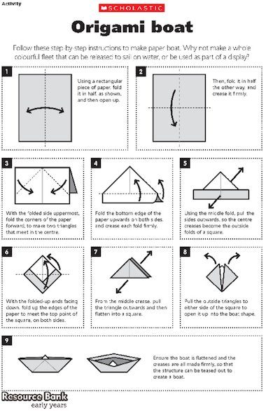 How To Make A Paper Boat Easy Steps