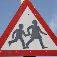 Road sign - children playing