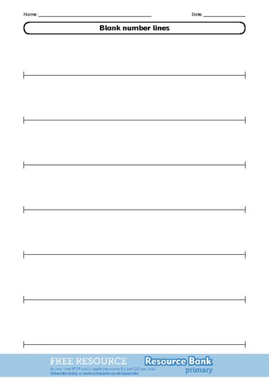 Blank number line 2 u2013 FREE Primary KS2 teaching resource - Scholastic