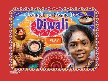 Rangoli patterns for Diwali game title screen