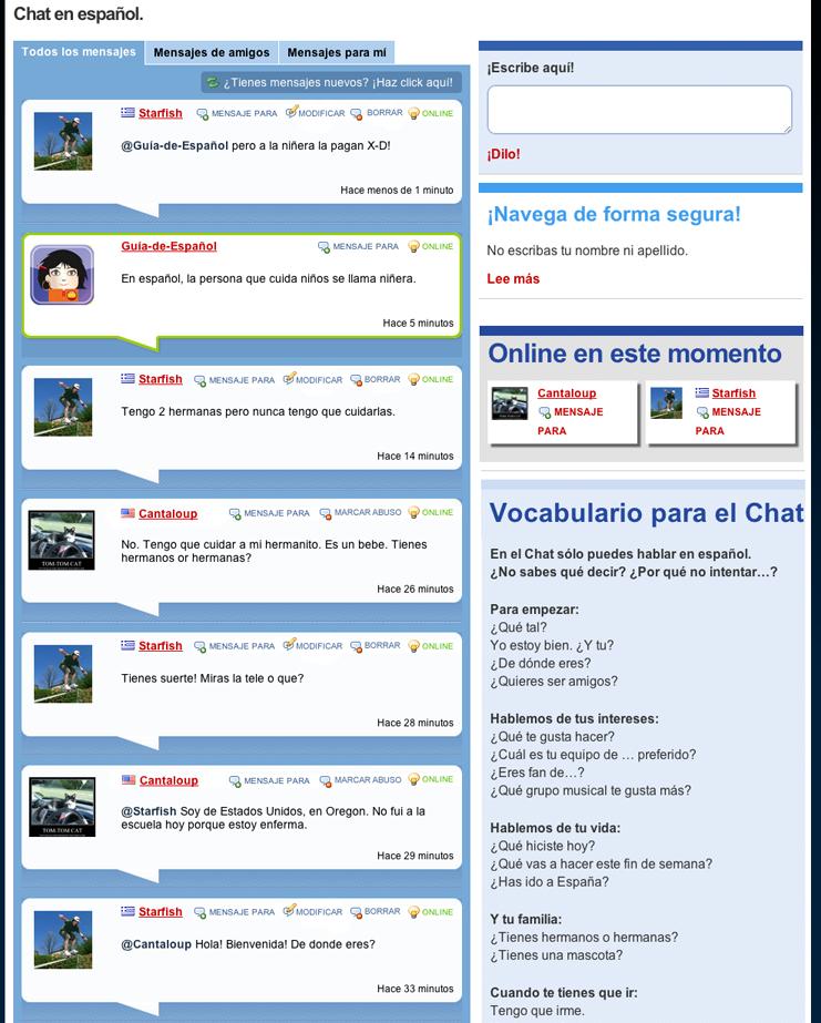 chat del mundo en español
