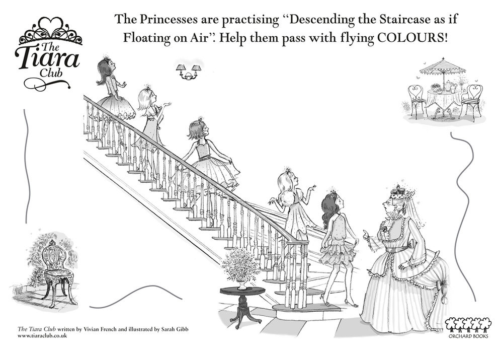 tiara club coloring pages the tiara club colouring scholastic kids 39 club