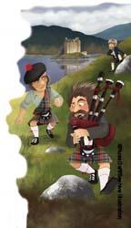 Scottish Highland illustration