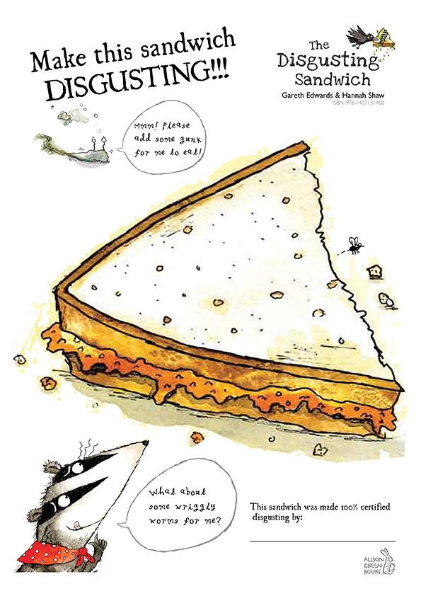 Disgusting Sandwich drawing - Scholastic Kids' Club