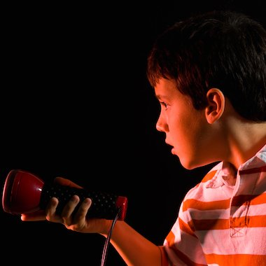 Child with torch