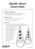 Upside-down clown hats recipe