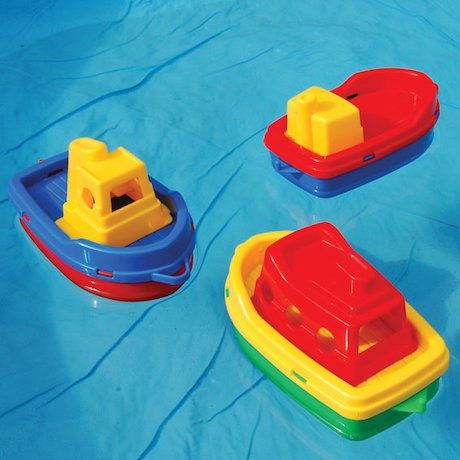 Floating toy boats
