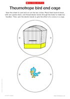 Thaumotrope bird and cage