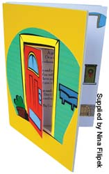 Door made from card